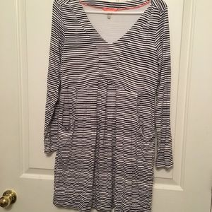 Joules Navy White Striped Tunic Top 10